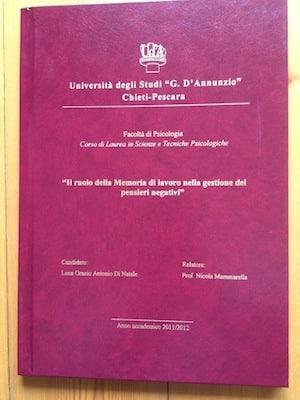 Tesi di Laurea in Psicologia del Dott. Di Natale