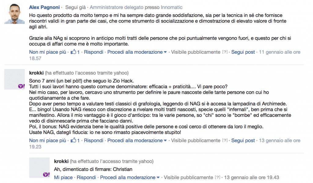 NAG Testimonianze Facebook